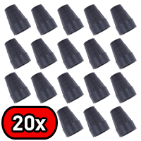 Bulk Pack of Z19 Replacement Walking Stick Ferrules