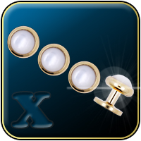 Gold & Pearl Tuxedo Shirt Studs Set (Four Studs)