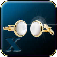 'Gold & Pearl' Formal/Tuxedo Cufflinks