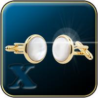 'Gold & Pearl' Formal/Tuxedo Cufflinks